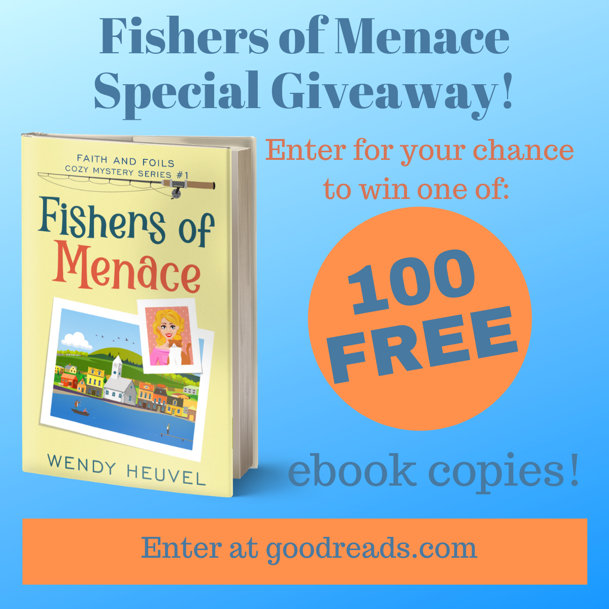 100 Copies of Fishers of Menace Available in this Goodreads Giveaway!