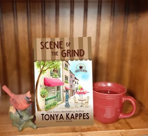 Cozy mystery review Tonya Kappes Scene of the Grind A Killer Coffee Mystery