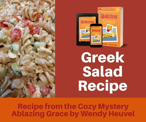 Greek Pasta Salad Recipe from ABLAZING GRACE